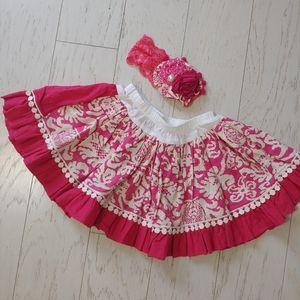 Persnickety Garden Party skirt & headband